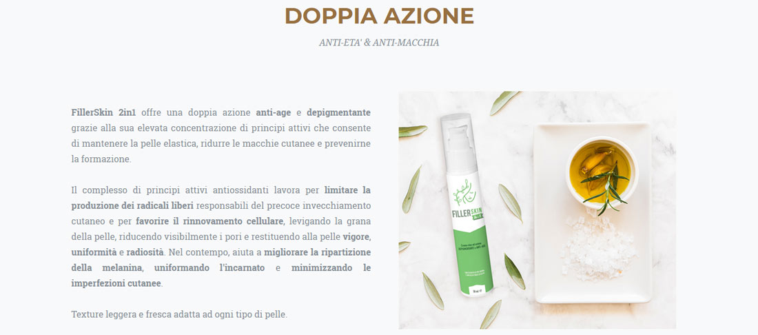 Come funziona la crema anti-age Filler Skin