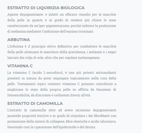 Ingredienti naturali di Dermaskin