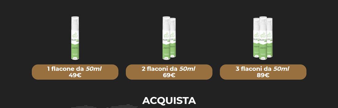 Prezzo della crema per le macchie del viso Filler Skin