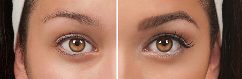 Flawless brows test
