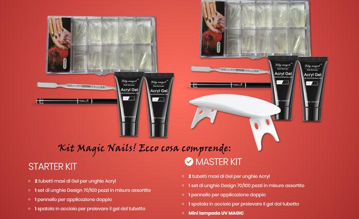 Cosa comporende il Kit per ricostruzione unghie MagicNail