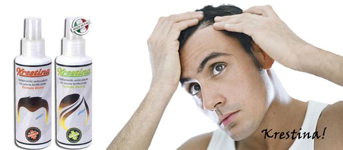 Lozione per capelli vellus e calvizie Krestina