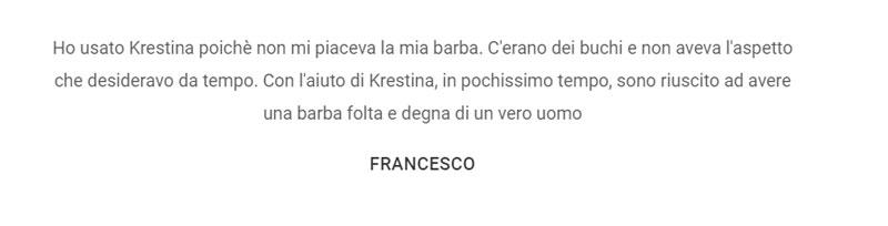 Opinioni della lozione Spray Krestina