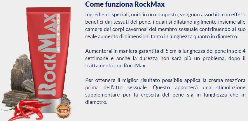 Funzionamento della crema per il pene RockMax