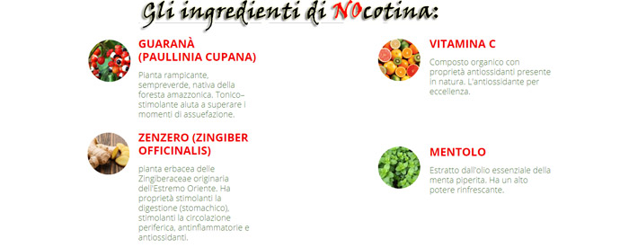 ingredienti naturali di Nocotina Spray