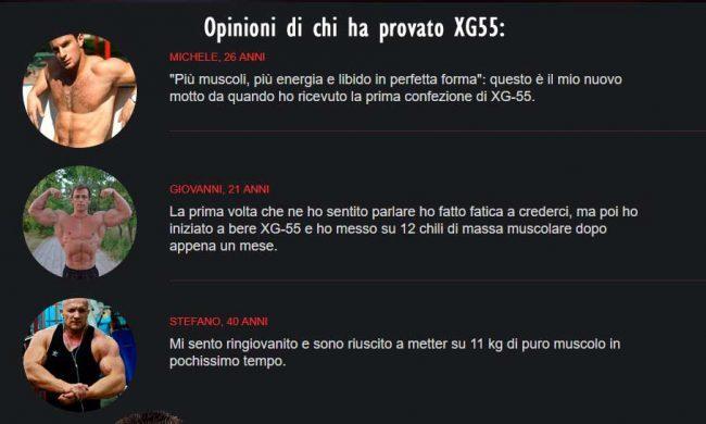 Opinioni prese dai forum su XG55