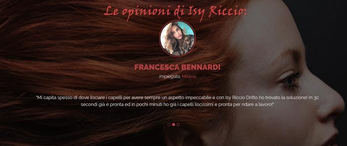 Opinioni dei clienti che hanno testato Isy Riccio Dritto