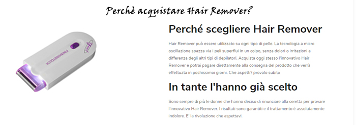 Hair Remover perchè comprarlo