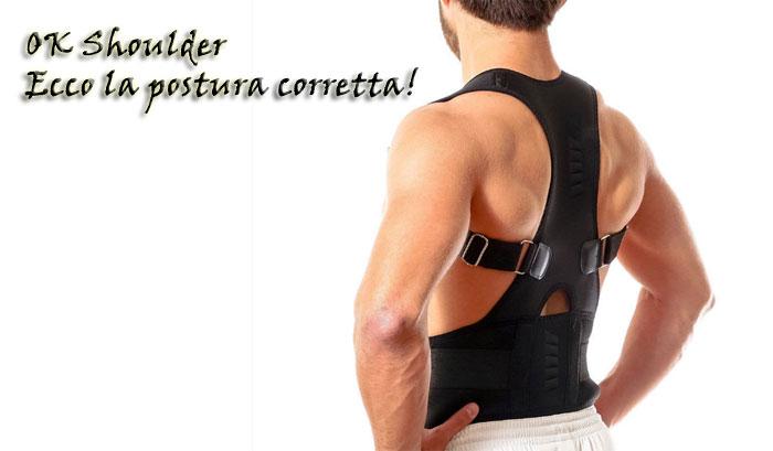 Fascia posturale per spalle e schiena