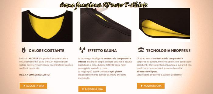 Funzionamento di X Power T shirt