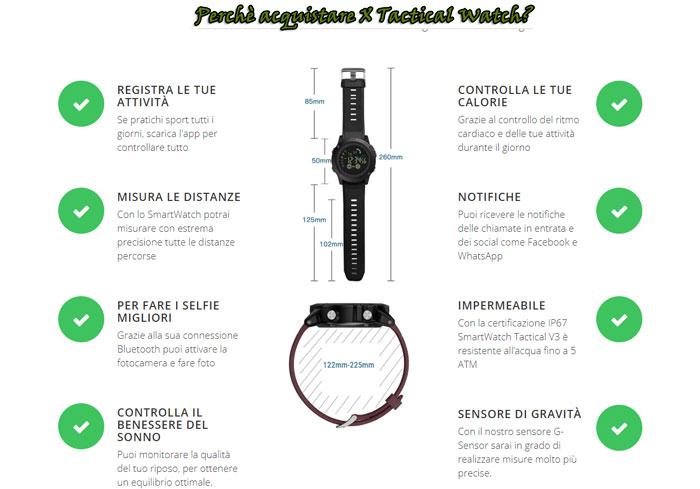 OPinioni di funzionamento di X Tactical Watch