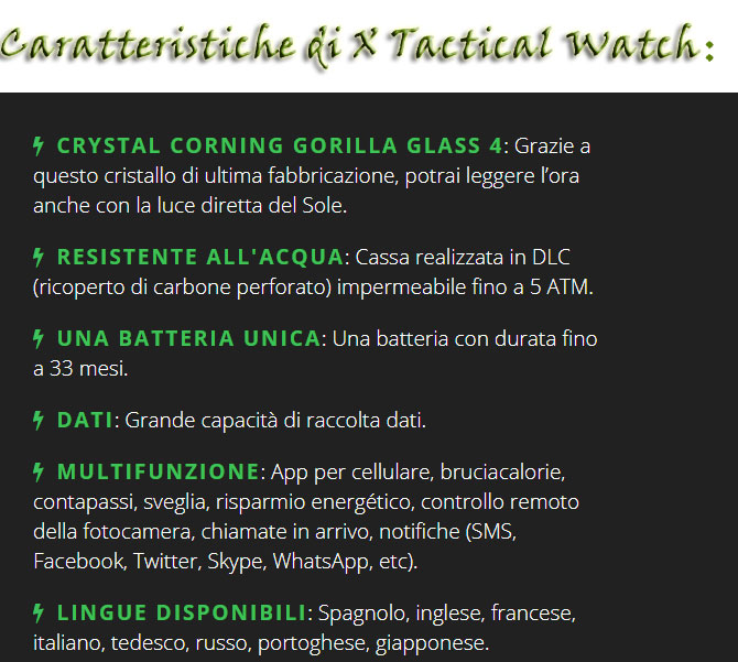 Come funziona X Tactical Watch