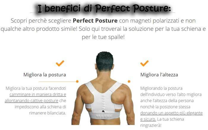 Benefici del supporto per la schiena Perfect Posture