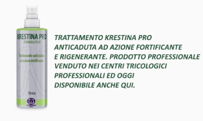 pretty nice 3568f 0085b Krestina Pro lozione anticaduta: Funziona realmente ...