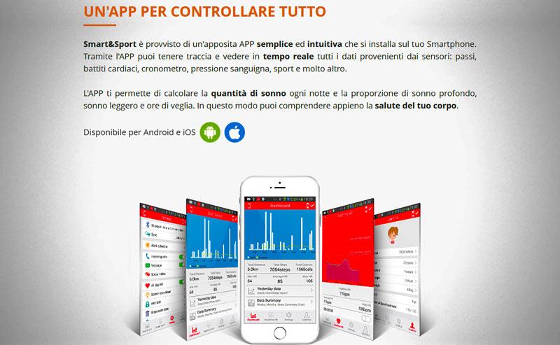 Funzionamento con app di Smart & Sport