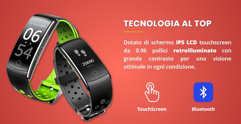 Smart e sport orologio smartwatch sportivo