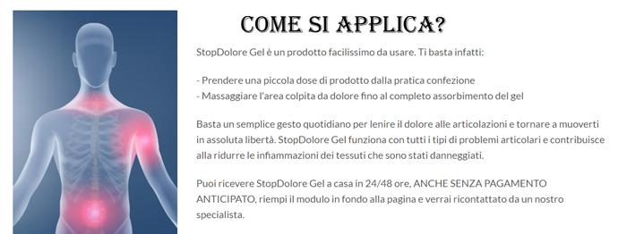 Come applicare Stopdolore Gel