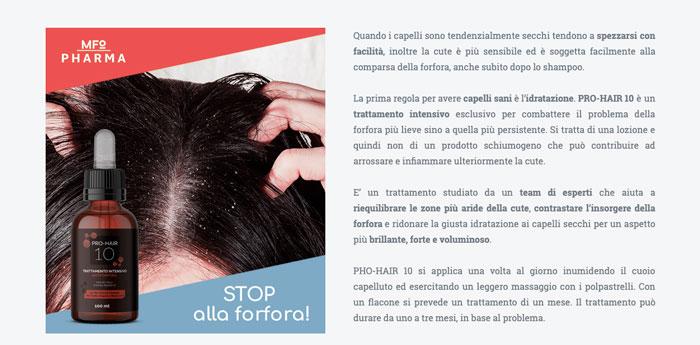 Controindicazioni di pro hair 10