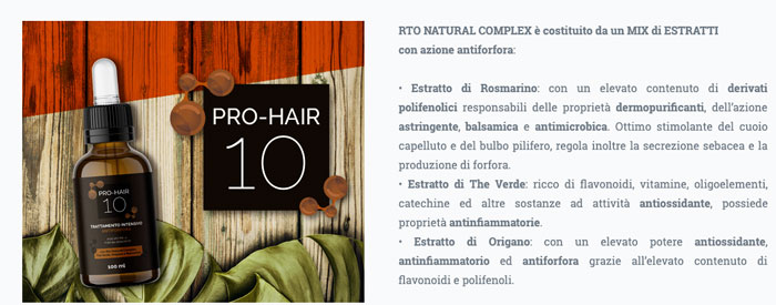 Ingredienti di Pro Hair 10