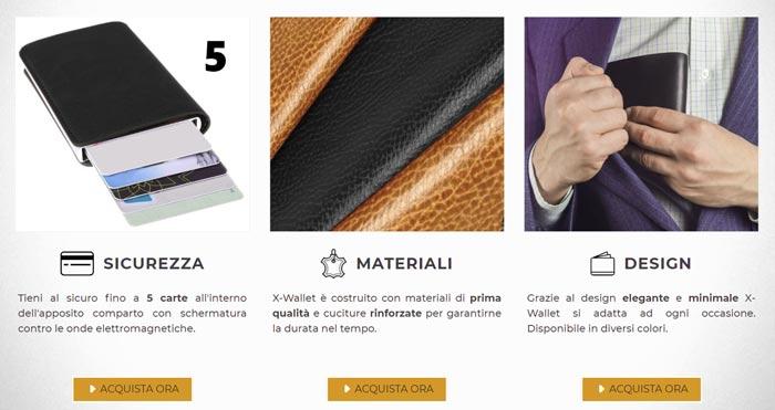 Portafogli anti RFID X Wallet