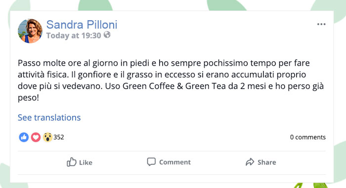 Opinioni su Green Coffee e Green tea Plus