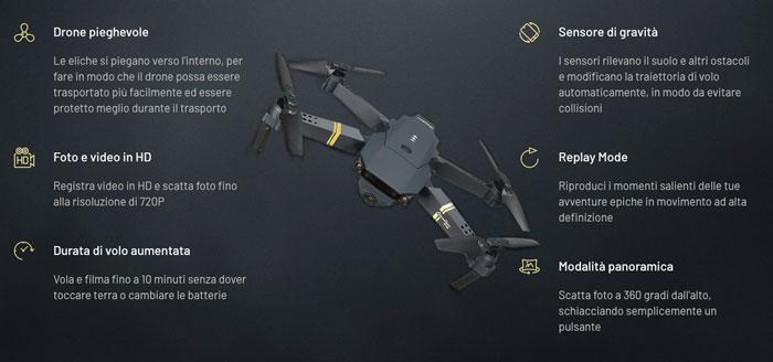 Funzioni di Xtactical Drone