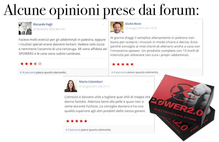 Opinioni dei forum su Xpower 2.0