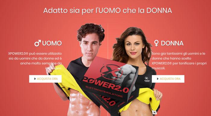 Xpower 2.0 elettrostimolatore per uomini e donne