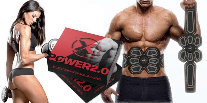 Elettrostimolatore per addome Xpower 2.0