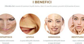 Benefici della crema per le macchie del viso e anti-age FillerSkin